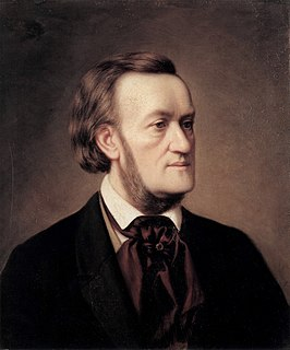 Richard Wagner, afgebeeld door Cäsar Willich in 1862