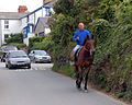Riding into Trevone - geograph.org.uk - 1287457.jpg