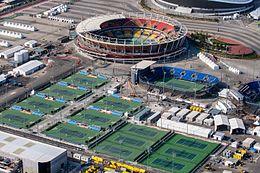 a1da7471645 Olympijské tenisové centrum v Parku Barra s 10 soutěžními a 6 tréninkovými  dvorci