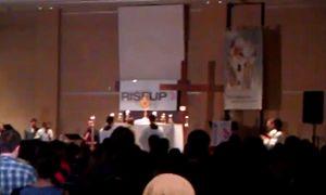 Catholic Christian Outreach - Eucharistic adoration at Rise Up 2011