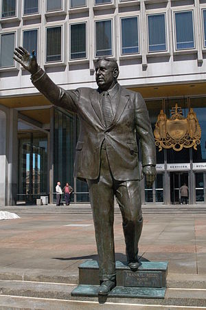 Frank Rizzo - Statue of former Mayor Frank Rizzo that stands in front of the Municipal Services Building in Center City Philadelphia