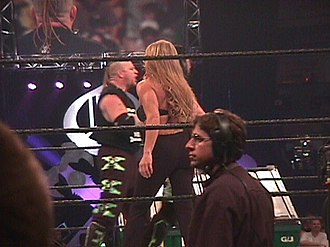 Road Dogg - Road Dogg and Tori in the ring during the King of the Ring pay-per-view on 2000.