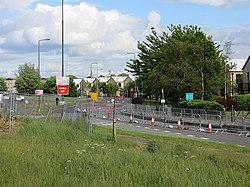 Roadworks, Broomhouse (geograph 3510465).jpg