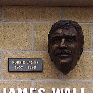 Robbie James - Bust of James outside the Liberty Stadium, Swansea.