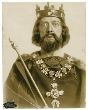King John (play) - A photograph of Robert B. Mantell as King John