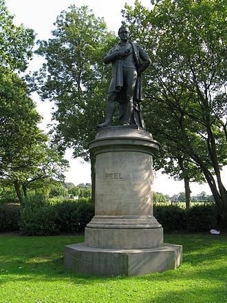 William Behnes - Statue of Robert Peel in Peel Park, Bradford