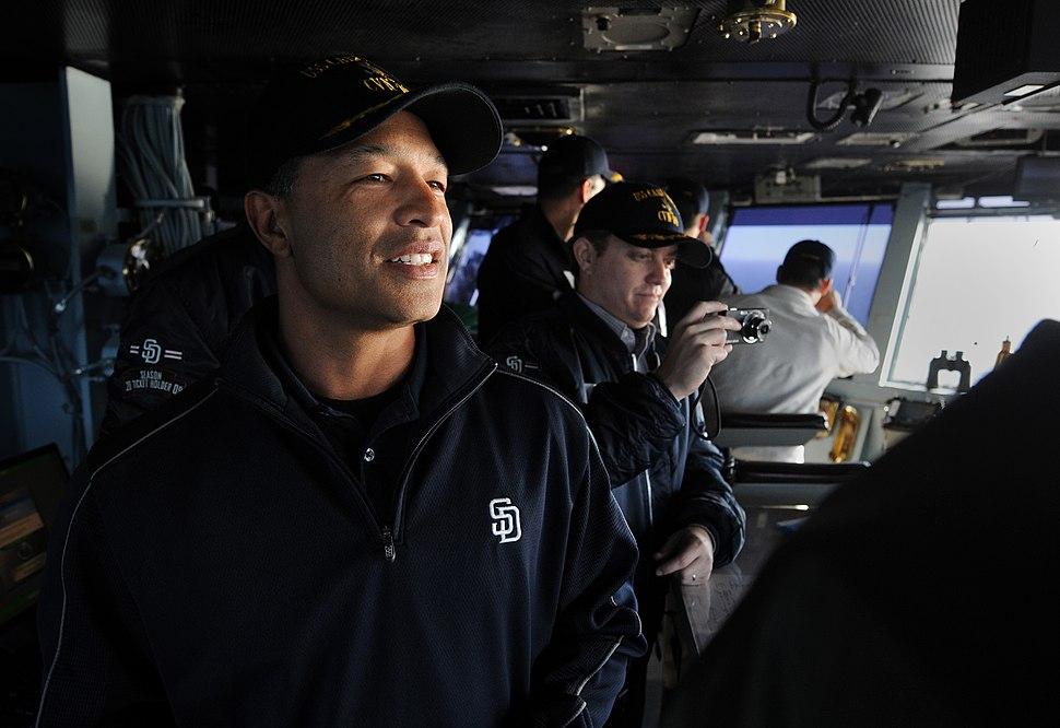 Roberts aboard Carl Vinson