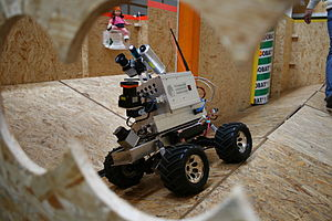 Rescue Robot League - Image: Robo Cup Rescue robot Hector from Darmstadt at 2010 German open