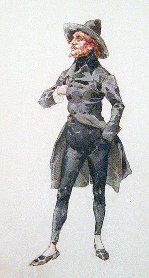 La bohème - Rodolfo—costume design by Adolfo Hohenstein for the premiere at Teatro Regio, 1896