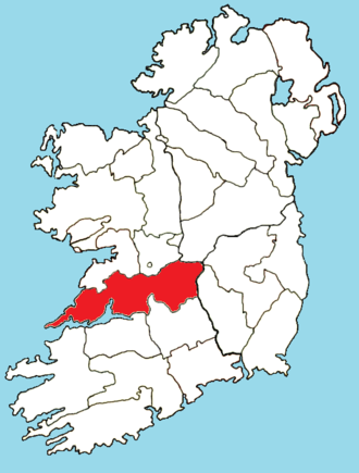 Roman Catholic Diocese of Killaloe - Image: Roman Catholic Diocese of Killaloe map