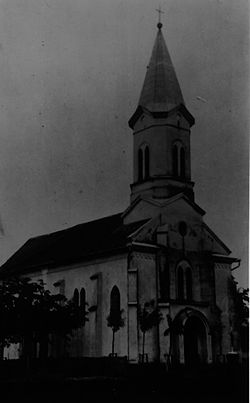Roman Catholic church in Dužine in 1934