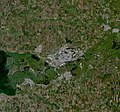 Rostov-on-Don, Russia, city and vicinities, near natural colors, LandSat-5, 2010-06-10.jpg