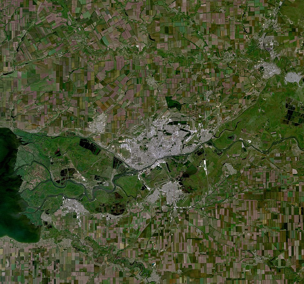 Rostov-on-Don, Russia, city and vicinities, near natural colors, LandSat-5, 2010-06-10