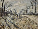 Route, effet de neige, soleil couchant (Monet).jpg