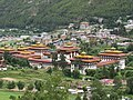 Royal Palace in Thimphu city, view from mountain, July 2016 02.jpg