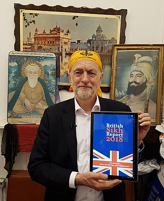 British Sikh Report - Rt Hon Jeremy Corbyn MP being presented with the British Sikh Report 2018