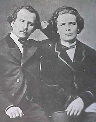 Russian Musical Society - Nikolai (left) and Anton Rubinstein.