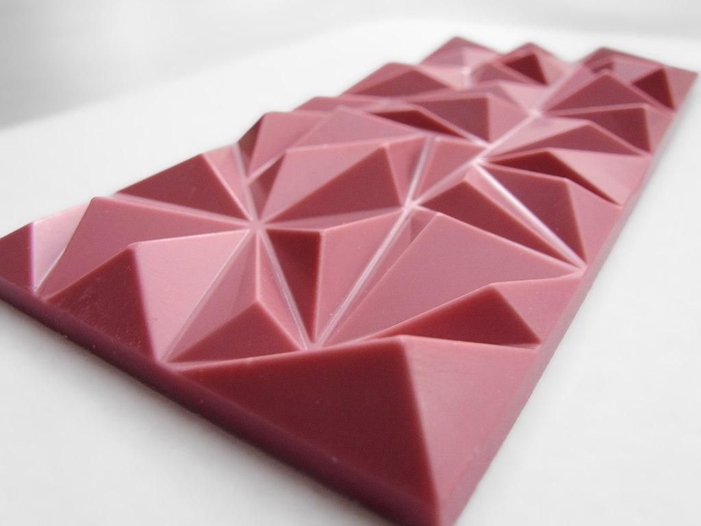 A pink candy bar
