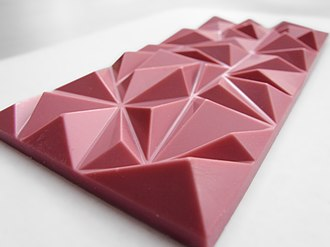 Ruby chocolate - An 80 gram, pure ruby chocolate bar