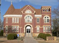 Rush County, Kansas, courthouse from E 2.JPG