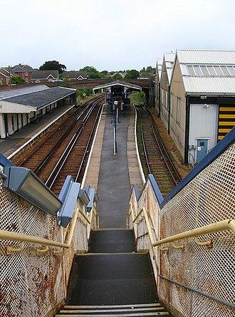 Ryde St John's Road railway station - Image: Ryde SJR fromfootbridge