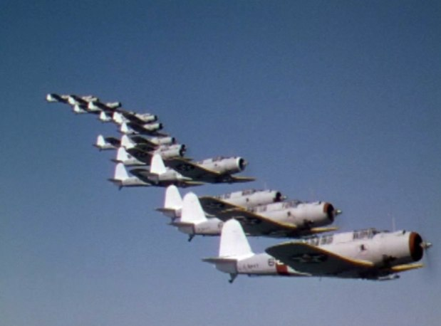 SB2Us in movie Dive Bomber 1941
