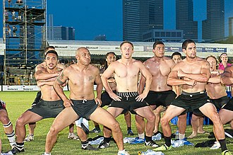 Haka - Haka being performed at the SCC Rugby Sevens