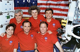 Ronald M. Sega - Sega (top right) with the crew of STS-76 aboard the Mir.