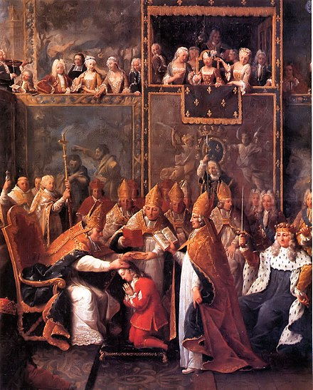 Coronation of Louis XV at Reims Cathedral (1722) Sacre de Louis XV.jpg