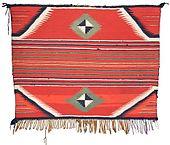 navajo single saddle blanket circa