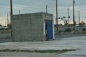 Safe deposit box - Safe deposit vault after the 2011 Joplin tornado.