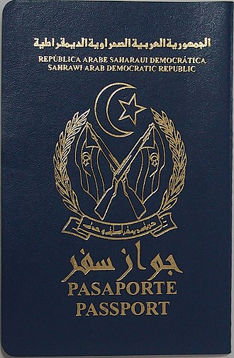 Sahrawi passport - The front cover of a contemporary Sahrawi passport