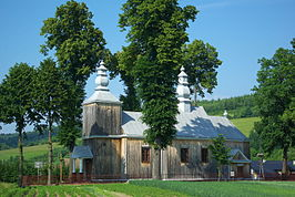 Saint John the Baptist church in Tyrawa Solna whole south.jpg