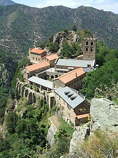 abbey located in Pyrénées-Orientales, in France