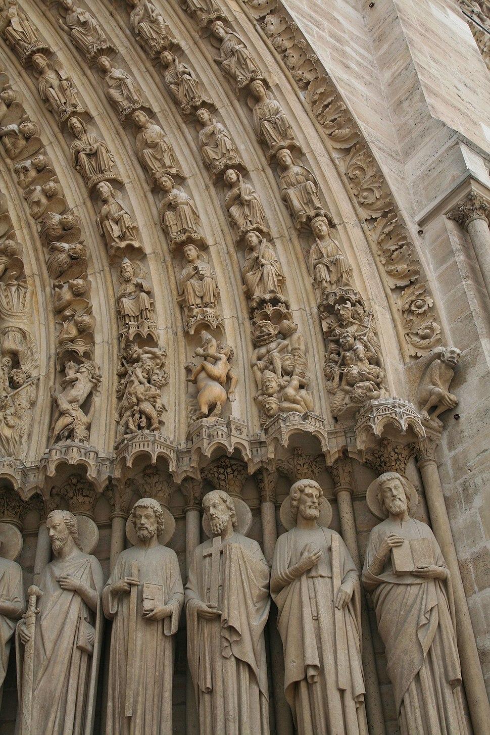 Saints in Portal, Notre-Dame, Paris (3605120325)