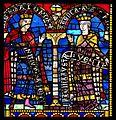 Salomon et la reine de Saba, vitrail roman, Cathédrale de Strasbourg.jpg