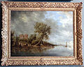 Salomon van ruysdael, paesaggio fluviale con le rovine del castdello di egmond.JPG