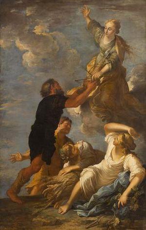 Astraea (mythology) - Astrea, the virgin goddess of Innocence and purity, by Salvator Rosa