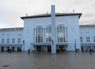 Salzburg Hauptbahnhof railway station in Austria