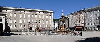 Salzburg Residenz - Salzburg Residenz facade on Residenzplatz