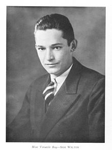 Walton in his high school yearbook photo