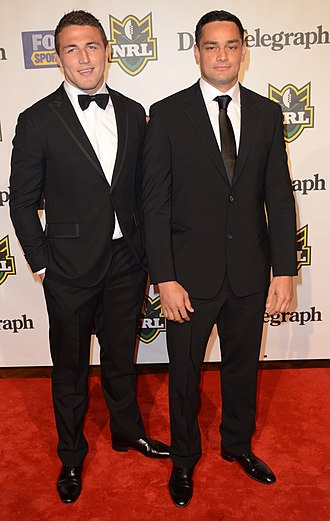 Sam Burgess - Burgess, with teammate John Sutton in 2012.