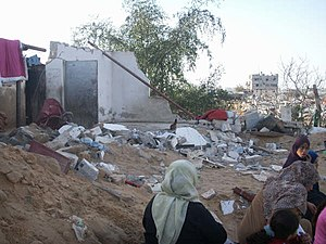 "Gaza War (2008–09) - ISM photo:""Damage to the Zeitoun neighbourhood"""
