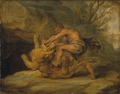 Samson and the Lion. Study - Nationalmuseum - 17609.tif