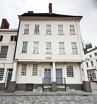 Early life of Samuel Johnson - Johnson's birthplace in Market Square, Lichfield