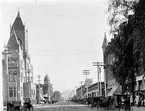 Timeline of San Bernardino, California history - San Bernardino, 1895.