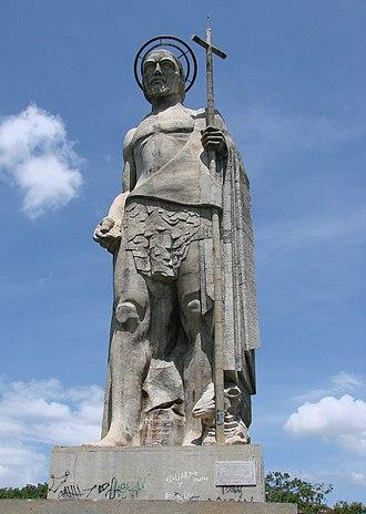 San Juan de los Morros - Statue of San Juan Bautista, erected 1935