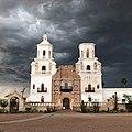 San Xavier del Bac in overcast weather.jpg