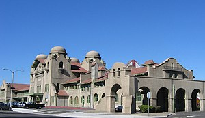 National Register of Historic Places listings in San Bernardino County, California - Image: Santa Fe Station and Harvey House, San Bernardino, California