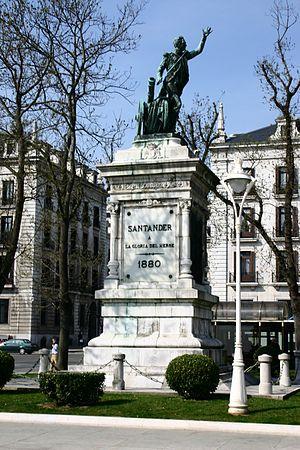Pedro Velarde y Santillán - A statue of Pedro Velarde y Santillán in Santander, Cantabria.